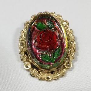 Vintage custom brooch pin jewelry cameo